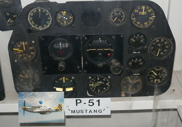 Cockpit of an original P-51